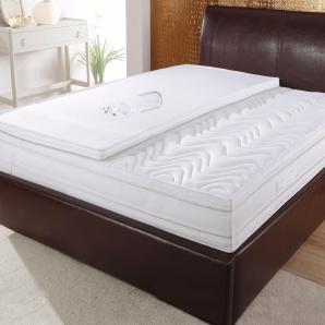 Schlaf-gut Taschenfederkernmatratze »Medisan DeLuxe T«, 140x200 cm, abnehmbarer Bezug, ca. 25 cm hoch, weiß, 65-80 kg