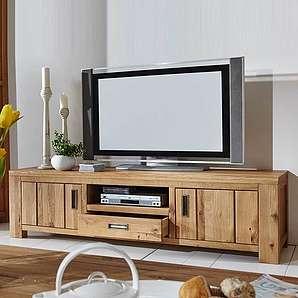 TV Unterschrank aus Wildeiche massiv geölt 190 cm breit