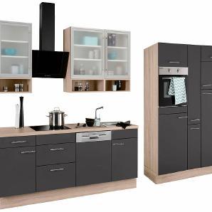 OPTIFIT Küchenzeile ohne E-Geräte Aue Breite 370 cm grau