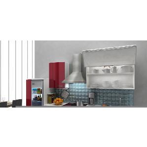 Respekta Premium Küchenzeile RP280WBOC 280 cm Bordeaux-Weiß