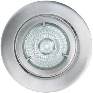 Halogen Innen Einbauleuchte Aluminium gebürstet EEK: C