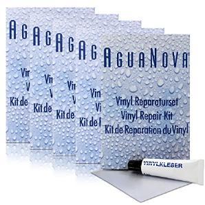 5x AguaNova Wasserbetten Vinyl Reparaturset - Vinylflicken & Vinylkleber 5 ml