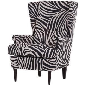 Ohrensessel Chaville - Webstoff Zebra, Red Living
