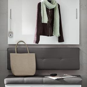 garderobenpaneele garderobenleisten in grau online vergleichen m bel 24. Black Bedroom Furniture Sets. Home Design Ideas