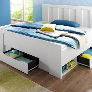 Rauch  SELECT Bett, pflegeleichte Oberfläche, 180/200 cm, weiß, 180/200 cm