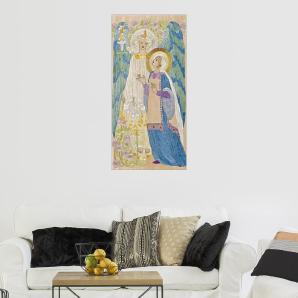 Posterlounge Wandbild - Scottish School »The Annunciation, Glasgow school embroidery, ...«