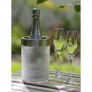 Getränkekühler Kristallfrost Silber, 20 cm