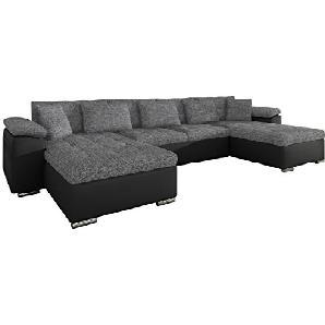 Ecksofa Wicenza! Design Big Sofa Eckcouch Couch! mit Schlaffunktion Bettfunktion! Wohnlandschaft! U-Form, Große Farbauswahl (Soft 011 + Kongo 730)