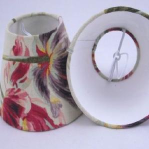 5 Kleine Handgefertigte Lampenschirm   Laura Ashley Gosford Blumen Leinen  Cranberry