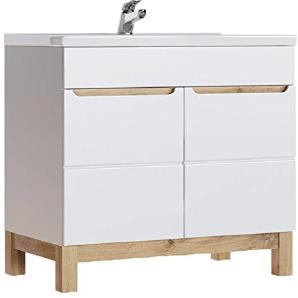 BALI 821 Badschrank, MDF-/ Laminierte Platte, weiß, 45 x 80 x 85 cm