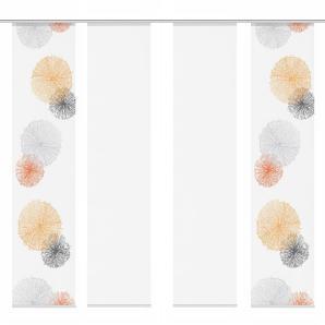 Schiebevorhang Scoppio (4er- Set) - Orange, Fredriks
