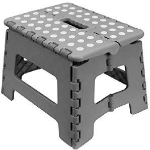 Carpemodo Klapphocker aus Kunststoff / Farbe: Grau / Größe: 29x22x22 cm