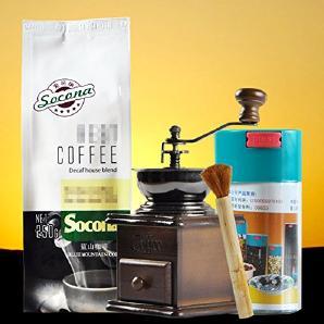 Holz Gusseisen Europäischer Stil Brown manuelle Kaffeemühle