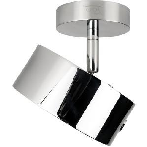 Top Light Puk Maxx Turn LED Downlight, 24 Karat vergoldet / Chrom