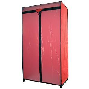 MSV 263Kleiderschrank rot/schwarz 90x 46x 160cm