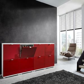 schuhschr nke in rot preise qualit t vergleichen m bel 24. Black Bedroom Furniture Sets. Home Design Ideas
