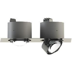 Top Light Puk Inside Twin Einbauleuchte, Gehäuse, schwarz / Chrom