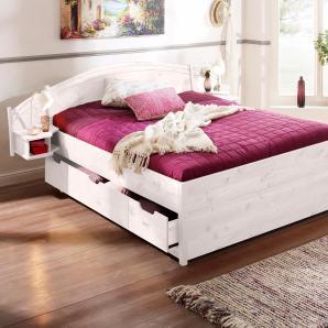 Home affaire Bett »Sofia« weiß, 140/200 cm, FSC®-zertifiziert