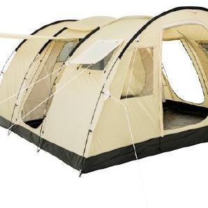 CampFeuer - Großes Tunnelzelt, 6 Personen, beige / sand, 5000 mm WS