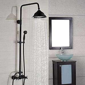 JinRou Modernes einzigartiges design Europ ischen retro Kupfer schwarz Bronze Duschkopf einstellbar Dusche Dusche