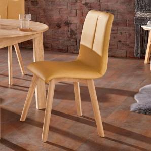 Stühle gelb, pflegeleichtes Kunstleder, FSC®-zertifiziert, gelb