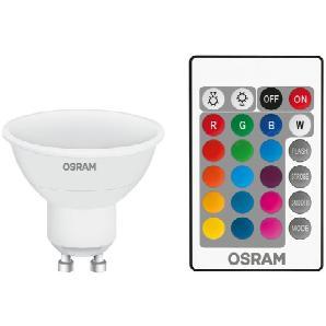 Osram Consumer LED-RGBW-Lampe mit Fernbedienung »25 120° 4.5 W/827 GU10 RGBW«