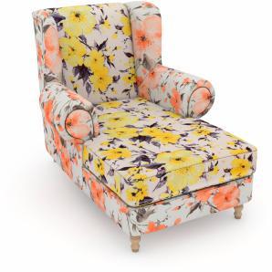 Max Winzer build-a-chair XXL Ohrensessel »Madeleine«, gelb, Füße: Buche natur, Landhaus Stil, Korpus: Microvelours Blüte lachs, FSC®-zertifiziert