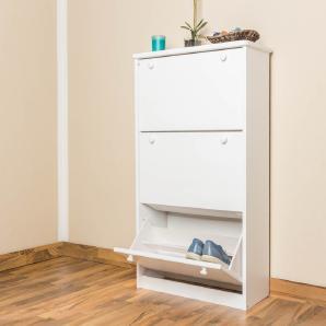 Schuhschrank Holz weiß