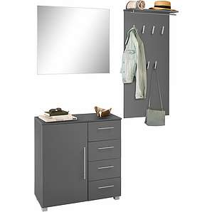 Schildmeyer Garderoben-Set  »Danu« grau, pflegeleichte Oberfläche, FSC®-zertifiziert