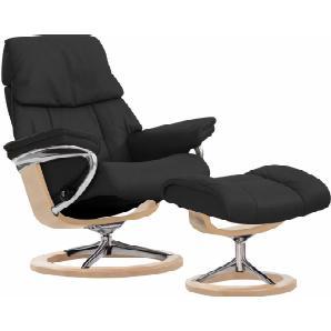 Stressless® Set: Relaxsessel mit Hocker »Ruby« mit Signature Base, Größe L, mit Schlaffunktion