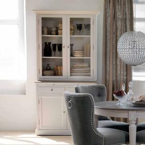 Küchenbuffet in Weiß Grau aus Kiefer Landhaus