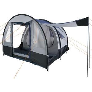 CAMPFEUER Tunnelzelt, schwarz grau, 4 Personen, 2000 mm, Camping Zelt