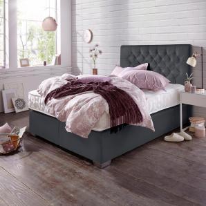 ATLANTIC home collection Boxspringbett »Colmar« schwarz, 140x200cm, Härtegrad 2, FSC®-zertifiziert
