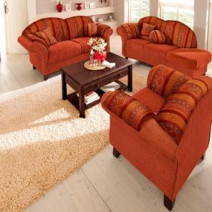 Home affaire Polstergarnitur »Colombo«, orange, Armlehne rechts, FSC®-zertifiziert