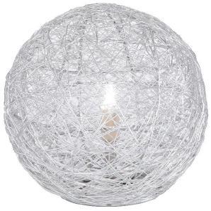 EEK B, Bodenleuchte Womble Silber - aus Aluminiumgeflecht, Paul Neuhaus