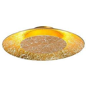 Deckenleuchte, Deckenlampe, Wandlampe, Wohnzimmerlampe, Küchenlampe, Esszimmerlampe, Lampe, Leuchte, LED, Gold, Metall