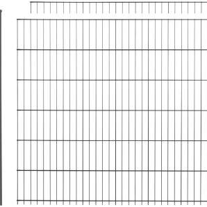 Doppelstabmattenzaun , 2 Stk., LxH: 4x1,2 m, anthrazit