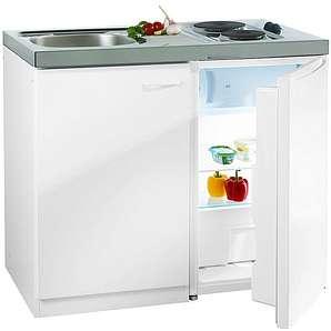 Pantry-Küche, mit DUO Kochmulde und Kühlschrank