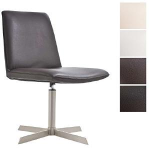 CLP Edelstahl Lounge-Sessel LIDO, drehbare, gut gepolsterte Sitzfläche (aus bis zu 4 Farben wählen) braun