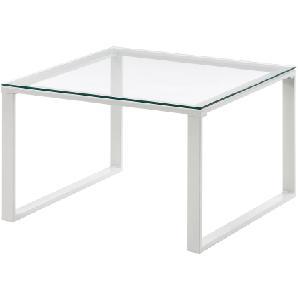 Couchtisch Montalto - Glas / Stahl - Weiß, Fredriks
