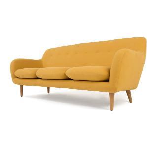 Dylan 3-Sitzer Sofa, Dottergelb
