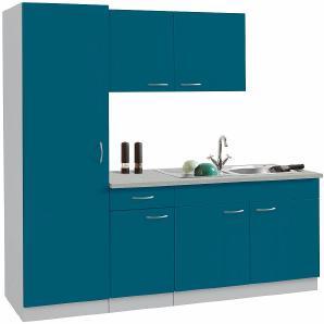 Küchenblock Kiel Breite 190 cm  blau