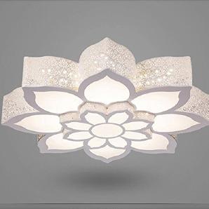 Intelligente DKSJ Moderne Minimalist New Schmiedeeisen Deckenleuchte LED-Runde Die Schlafzimmer Balkon Beleuchtung Wohnzimmer Lampen, Tri-Farbe wechselnden Licht, 750mm