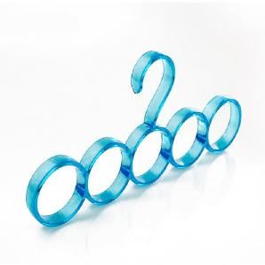 PuMaple 10 Stück,Nordic Kreis Schals Rack Multi Aufhänger Rack Tie Rack Gürtel Rack Schals , 5 rings of blue
