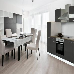 RESPEKTA Küchenzeile mit E-Geräten , Breite 240 cm