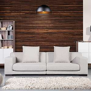 Sofa Beige - Couch - 2er Sitzer - Stoffsofa - Designersofa - CLOUD