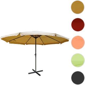 Alu-Sonnenschirm Meran Pro, Gastronomie Marktschirm mit Volant  5m ~ creme ohne Stnder