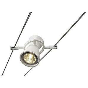 SLV Diabo Leuchtenkopf für Seilsystem, MR16, maximal 35 W, weiß 181291