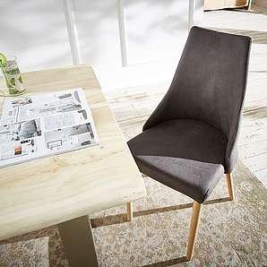 schwarze und graue essst hle m belideen. Black Bedroom Furniture Sets. Home Design Ideas