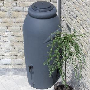 Regenwassertonne 210 Liter inkl. Pflanzeinsatz in Anthrazit